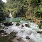 Nach 300 m kommt der Fluss wieder an die Oberfläche