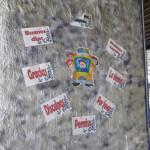 Merktafel in einer Schule - Wie verhalte ich mich im Bus
