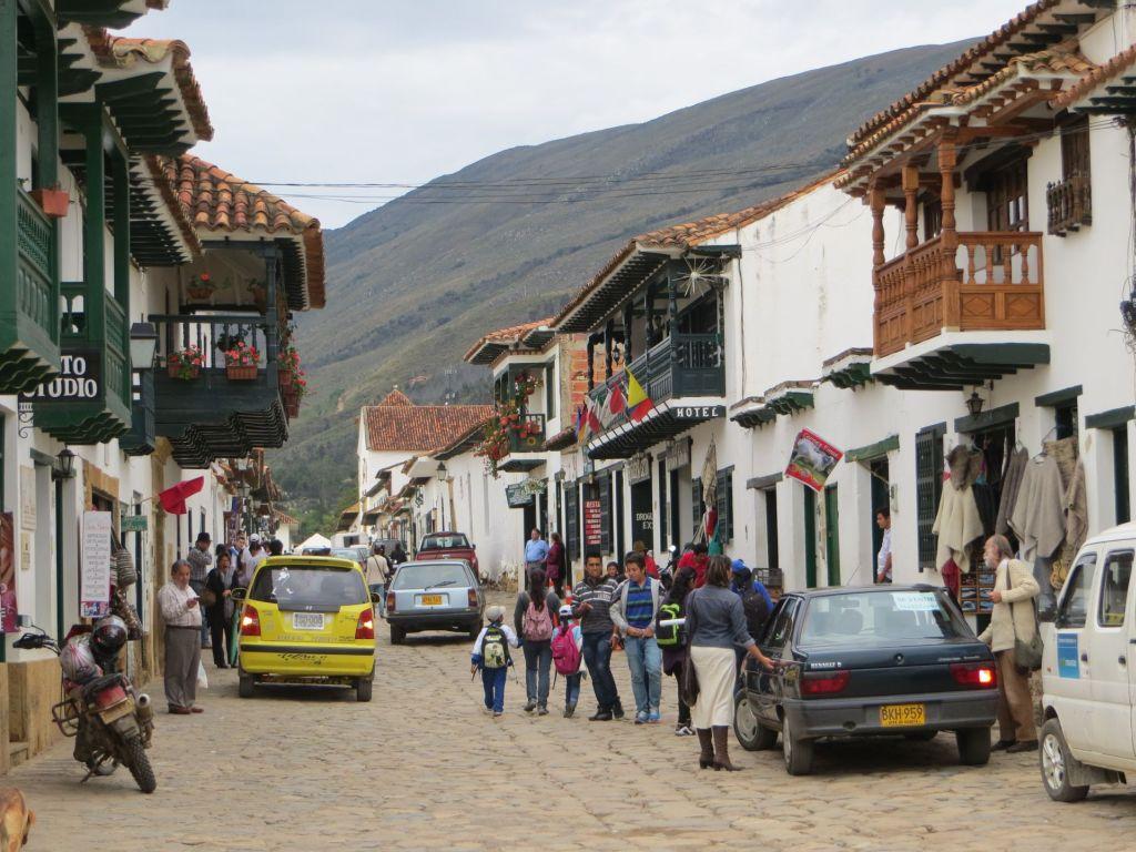 038-22 Villa de Leyva - eine der Hauptstraßen