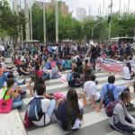 Medellin - Studentendemo, Straßenblockade