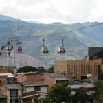 Seilbahnen sind in Medellin ein Teil des öffentlichen Nahverkehrs