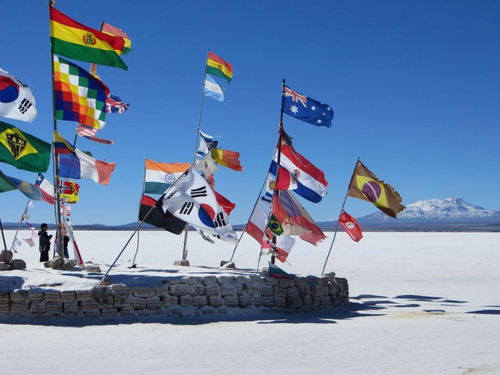 039-28 Uyuni - Auf der Salzfläche