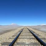 Salar de Uyuni - Bahnstrecke nach Chile