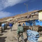 Am Eingang der Silbermine von Potosi
